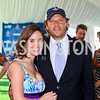 Photo by Tony Powell. Sally Stiebel, Mark Ein. Kastles VIP Reception. Kastles Stadium. July 7, 2010